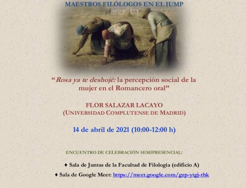 Conferencia «Rosa ya te deshojé: la percepción social de la mujer en el Romancero oral» a cargo de Flor Salazar Lacayo