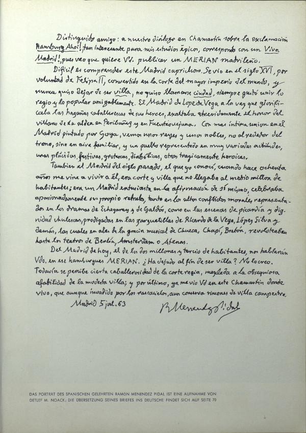 Ramón Menéndez Pidal evoca y retrata la villa en que vivió más de ochenta años
